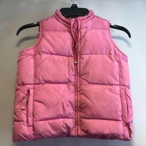 Old Navy Vest Girls Sz 6 Puffy Vest Pink Reversibl